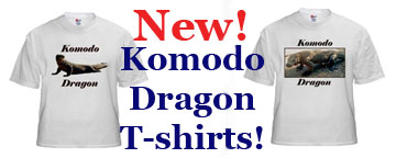 Komodo dragon t-shirts available at Cafepress!