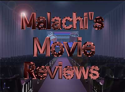 Logo for Malachi's Movie Reviews, showing a movie theater.