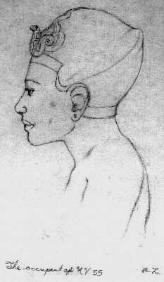 drawing of Smenkhkare by Megaera Lorenz