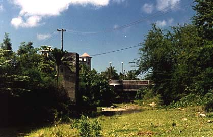 Photograph of Ricky's Bridge and the water-testing tower by Madog River.