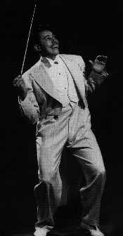 Photograph of Cab Calloway conducting.