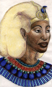 Portrait of Akhenaten by Megaera Lorenz