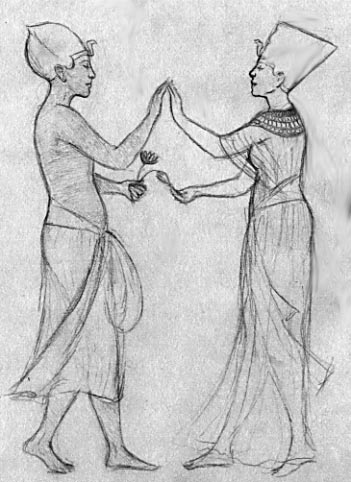 Akhenaten and Nefertiti dancing