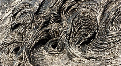 Swirls of pahoehoe.