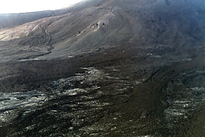Photograph by Brenna Lorenz of the 1981 Pagan lava flow.