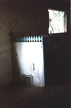 Photo by Brenna Lorenz of the confessional in the Pagan church.