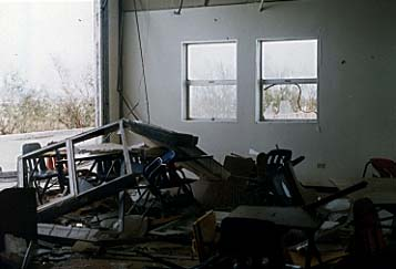 Classroom at University of Guam destroyed by Supertyphoon Paka.