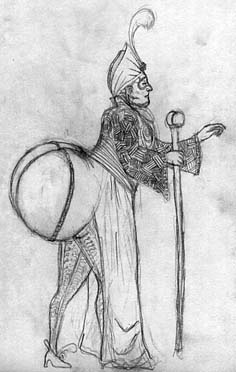Drawing of the Prince of Bigassia by Megaera Lorenz.