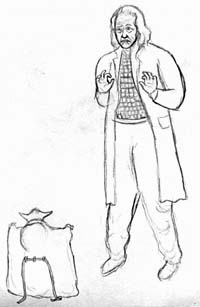 Drawing of Dr. Soong meeting Yoda, by Megaera Lorenz