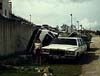 Thumbnail of cars destroyed by the typhoon.